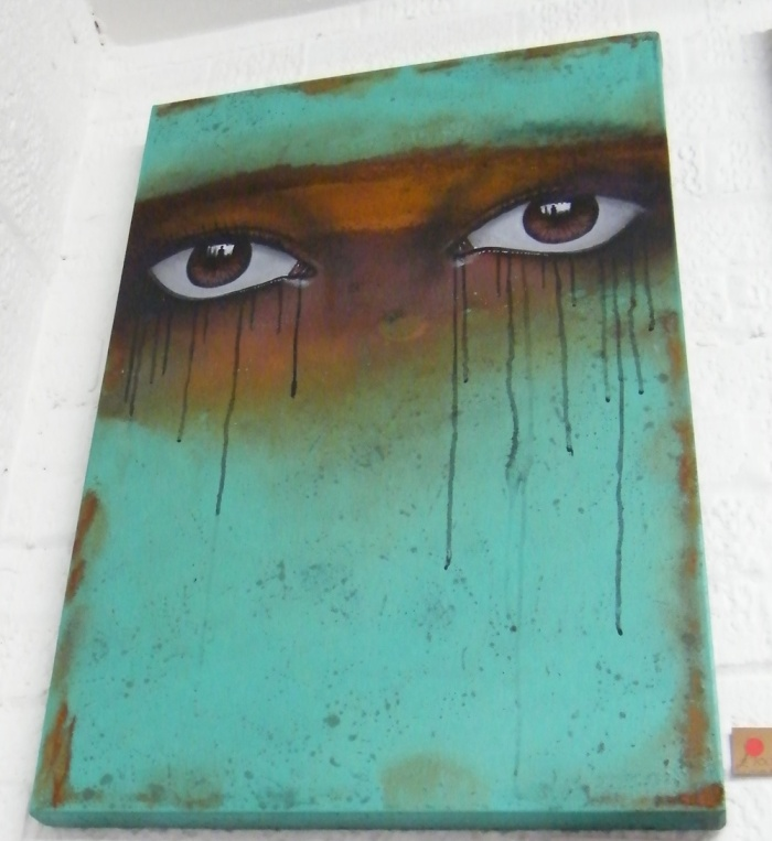 MYDOG SIGHS eyes on canvas
