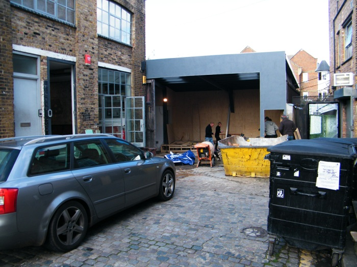 NEW GALLERY SPACES TAKING SHAPE IN VYNER STREET - Movember 4th 2012