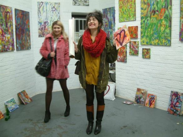 FREE ART THURSDAY, NOVEMBER 17th 2011... CULTIVATE VYNER STREET... two more happy people