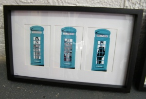 Framed D7606 piece ready for the show....