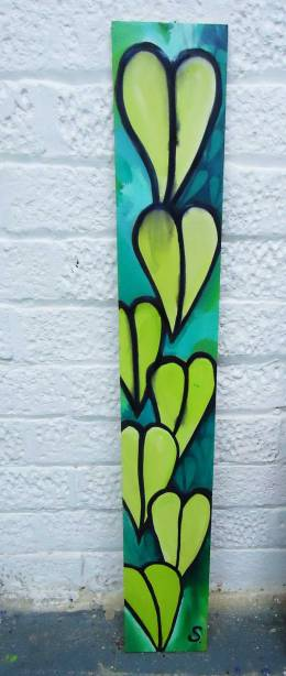 Sean Worrall - leaves on a plank of wood found in te street, sold via the art chute yesterday