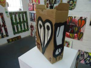 a cardboard box exclaimed on and sold (for more than expected)