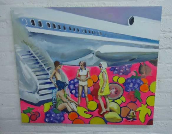 KATRINE STOREBO - Air Vietnam  Oil on canvas 60cm x 70cm