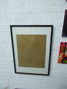 empty frame in empty space