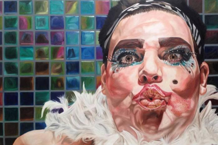 "SAMANTHA PAYNE - ""Craig"". Oil on canvas, 180 x 120cm, 2013."