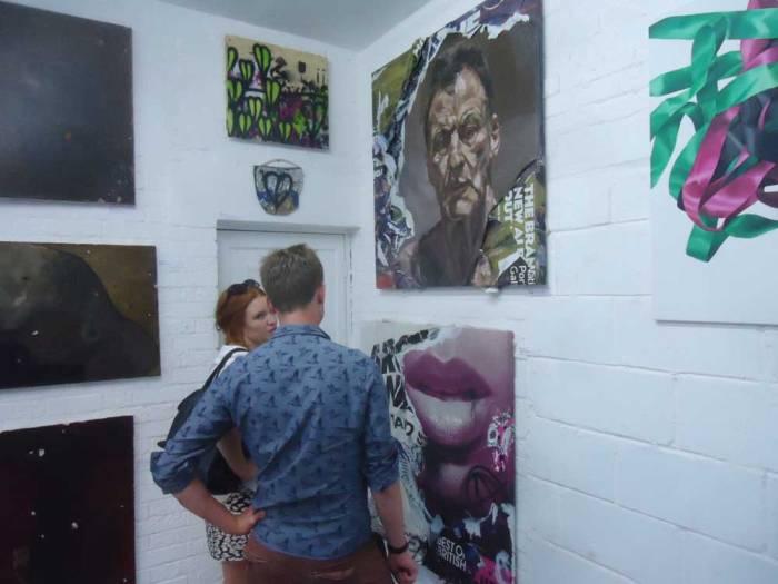 Mathew Tudor, Piky, Sean, Emma Harvey,  all up on the wall...